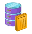 Data processing icon cartoon style vector image