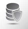 database protection vector image vector image