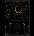 decorative tarot card with cosmic motives vector image