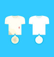 dirty t-shirt with stains and clean t-shirt vector image vector image