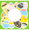 Easter eggs pattern on a green vector image vector image