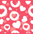 empty and full hearts in white and pink colors vector image