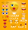 female emoji mouth animation design vector image vector image