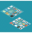 Finance and social media isometric 3d icons vector image vector image