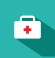first aid kit medical icon vector image vector image