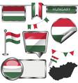 flag hungary vector image