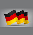 germany waving flag icon isolated official symbol vector image