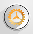 Glossy gear setting icon vector image vector image