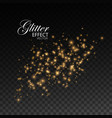 gold glittering star dust vector image vector image