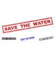 grunge save the water scratched rectangle vector image vector image