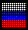 halftone russian filled square icon vector image vector image