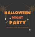 halloween night party greeting card vector image
