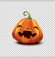 halloween pumpkin in cartoon style smiling vector image vector image