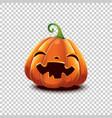 halloween pumpkin in cartoon style smiling vector image