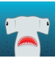 hammerhead shark with open mouth vector image vector image