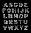 hand-drawn alphabet calligraphy font modern chalk vector image vector image