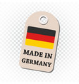 hang tag made in germany with flag on isolated vector image vector image