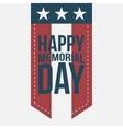 Happy Memorial Day vintage Label with Text vector image vector image