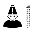 Head Stress Icon With Flying Drone Tools Bonus vector image vector image
