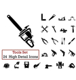 icon set tools vector image vector image