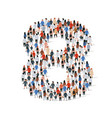 large group people in number 8 eight form vector image vector image