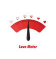 love meter design element vector image