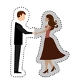 lovers couple characters icon vector image vector image
