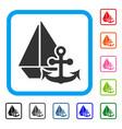 marine framed icon vector image