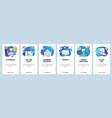 mobile app onboarding screens todo list smart vector image vector image