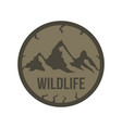 mountain labels in vintage style vector image vector image
