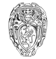 old historical heraldic design of building in Roma vector image vector image