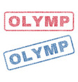 olymp textile stamps vector image vector image