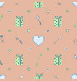 pastell seamless pattern with hearts arrows vector image vector image