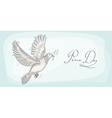 Peace dove symbol texture background EPS10 file vector image vector image