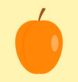 peach icon flat style vector image vector image