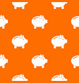 piggy bank pattern seamless vector image vector image