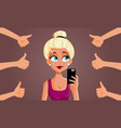 popular social media influencer vector image