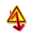 realistic 3d plastic yellow high voltage sign toy vector image vector image