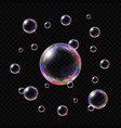 realistic soap bubbles isolated vector image vector image