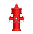red fire hydrant isolated vector image vector image