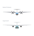 regional turboprop and cargo aircraft vector image vector image