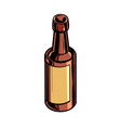 retro bottle medicine or drink vector image
