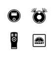robot vacuum cleaner simple related icons vector image vector image