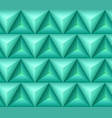 seamless green ethno pattern with 3d geometric vector image vector image