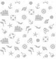 seamless pirate monochrome pattern vector image