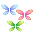set of butterfly wings vector image vector image