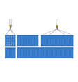 set of cargo containers for transport of goods vector image