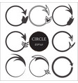 set of hand drawn circles design elements vector image vector image