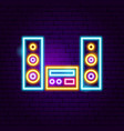 speakers neon sign vector image