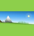 spring mountains vector image